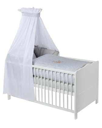 Zöllner 3-piece cot set with appliqué Deer Family 2016 - large image