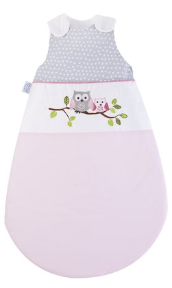 Zöllner Sleeping bag with appliqué, Little Owls, pink 2016 - large image