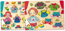 Beeboo clothes jigsaw - The cheerfully colorful tightening puzzle is made of sturdy wood and long love their little puzzle experts!