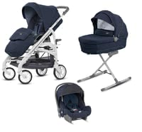 Inglesina Trilogy City System Quattro - * This system will accompany you and your little one from birth on until the toddler age. The 4-piece set contains the stylish frame with the carrycot, the carrying bag, the infant carrier Huggy group 0+ and the diaper bag. With all its versatile functions and its flexibility, this set will convince you straightaway.