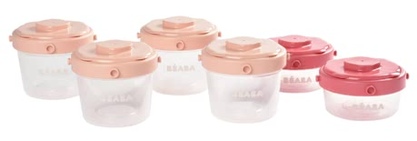 Béaba Clip Portions, Pack of 6 -  * The Beaba Clip Portions Set is airtight and leak-proof. This 12-part set comes in a pack of 4 containers holding 120 ml each and 2 containers holding 60 ml each.