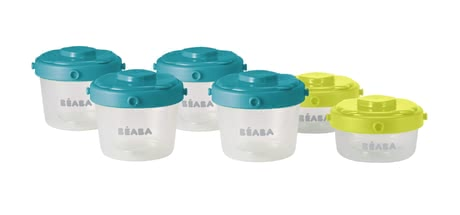 Béaba Set of 6 125 ml and 60 ml Clip Portions -  * The Beaba Clip Portions Set is airtight and leak-proof.