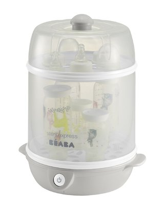Béaba Steril Express Evolutif -  * The Béaba Steril Express Evolutif is a 2-in-1 steam sterilizer. It sterilizes feeding bottles, teats and utensils in only 6 minutes.