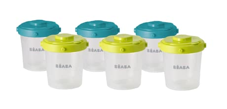 Béaba Set of 6 200 ml Clip Portions -  * Thanks to Beaba Clip Portions Set can you easily store your meals.