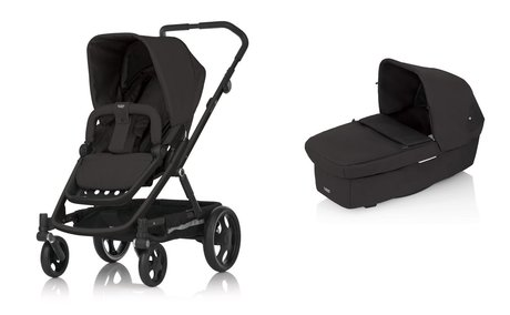 BRITAX GO stroller incl. Carrycot Black Thunder 2015 - large image