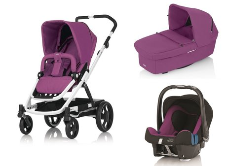 Britax Go Stroller incl. Carrycot and Römer Infant carrier Safe Plus SHR II Cool Berry 2015 - large image