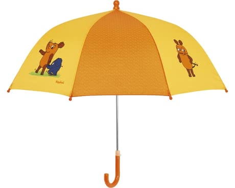 Playshoes umbrella for children, yellow mouse & elephant 2016 - large image