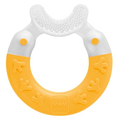 MAM Teething Ring Bite & Brush - MAM teething ring Bite & Brush - The MAM teething ring Bite & Brush nourishes the daily dental care.