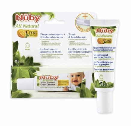 Nuby All Natural Finger toothbrush & toothpaste 2016 - large image
