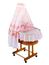 Zöllner bassinet set Kuschelbär rose 15812-53600