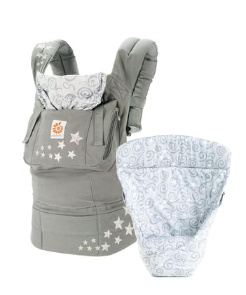 Ergobaby Original baby carrier from birth bundle – Galaxy Grey 2017 - large image