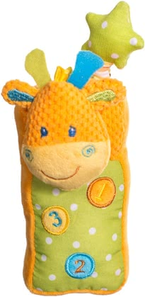 phoning like the great ones - * The soft and cuddly giraffe mobile phone by Bieco for our little ones.