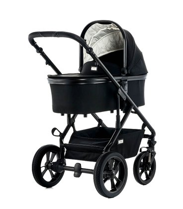 Moon Multi-Functional Stroller Nuova with Aluminium-Carrycot black - fishbone 2018 - large image