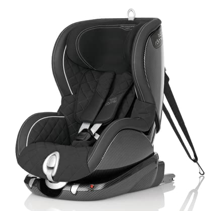 Britax Römer Trifix Limited Edition - BLACK EDITION - Strictly limited edition * Handmade * Carbon and leather look * 100% Made in Germany * 5-point belt * Side impact protection * Patented SI-Pads Limited Edition // worldwide only 500 pieces
