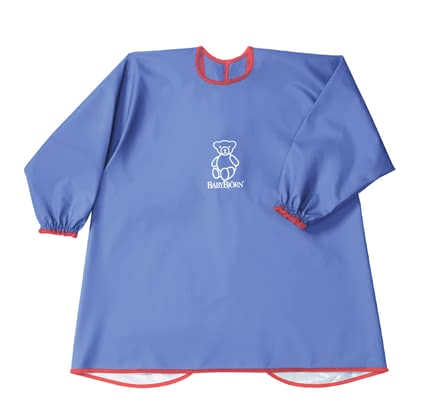 Baby Björn Long Sleeve Bib - * The apron for eating and playing by Baby Björn will protect you little one's clothes and convinces your with a soft and breathable material.
