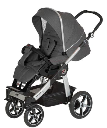 Hartan Pram Racer GTS -  * Hartan's pran Racer GTS features ultimate comfort and trendy design and is super easy to use. Its extra-large single swivel wheels contribute to its manoeuvrability so that you can master any strolls even on rough surfaces.