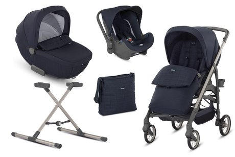 Inglesina Otutto Deluxe -  * The Inglesina Otutto Deluxe System is an absolute must-have that accompanies you and your child from birth into toddlerhood. This all-round set contains a pushchair, a carrycot, an infant car seat carrier, a stand, a changing bag, a footmuff as well as a rain cover – the perfect baby equipment for on the go.