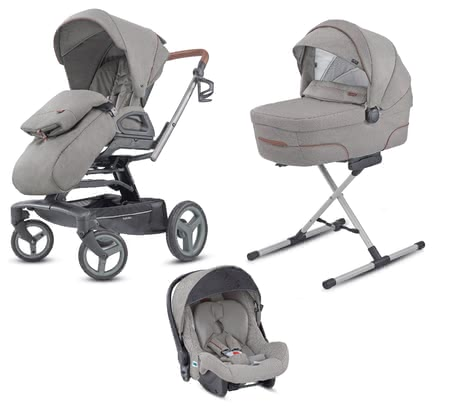Inglesina Quad System Quattro -  * Thanks to the Inglesina Quad System you and your little one are well-equipped right from birth up to toddlerhood. The four-part set comes with the pushchair Quad, a carrycot, an infant car seat carrier and a changing bag – thus you can use the Quad System for a long time.