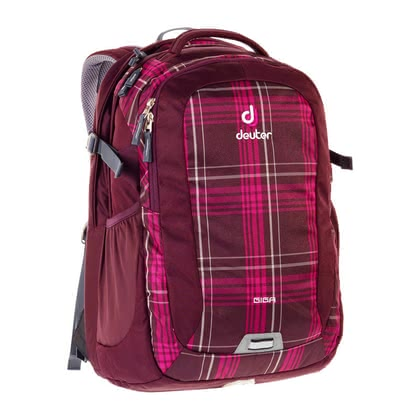 Deuter school-laptop-bag Giga in aubergine check 2016 - large image
