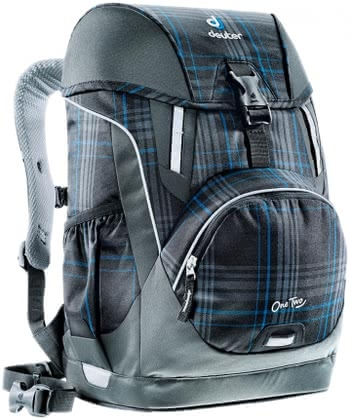 Deuter school bag OneTwo in blueline check 2016 - large image