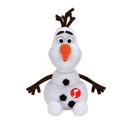 Disney Frozen Olaf plush toy with sound 2016 - large image