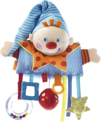 "Haba Play Wrap ""Kalle the Clown"" - * Bright-eyed children and a lot of entertainment will be offered by the Haba Kalle Kasper play-trainer."
