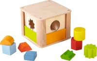"Haba Shape Sorting Box ""Animals at the Zoo"" - * The sorting box with zoo animals will provide a lot of fun."