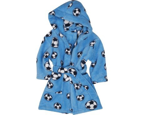 Playshoes Fleece-Bademantel Fußball  bleu 2016 - large image