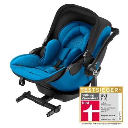 kiddy Infant Car Seat evo-luna i-Size including kiddy Isofix Base 2 - * The kiddy evo-luna i-Size incluing isofix base 2 withh lying position will enable your child a healthy start into life.
