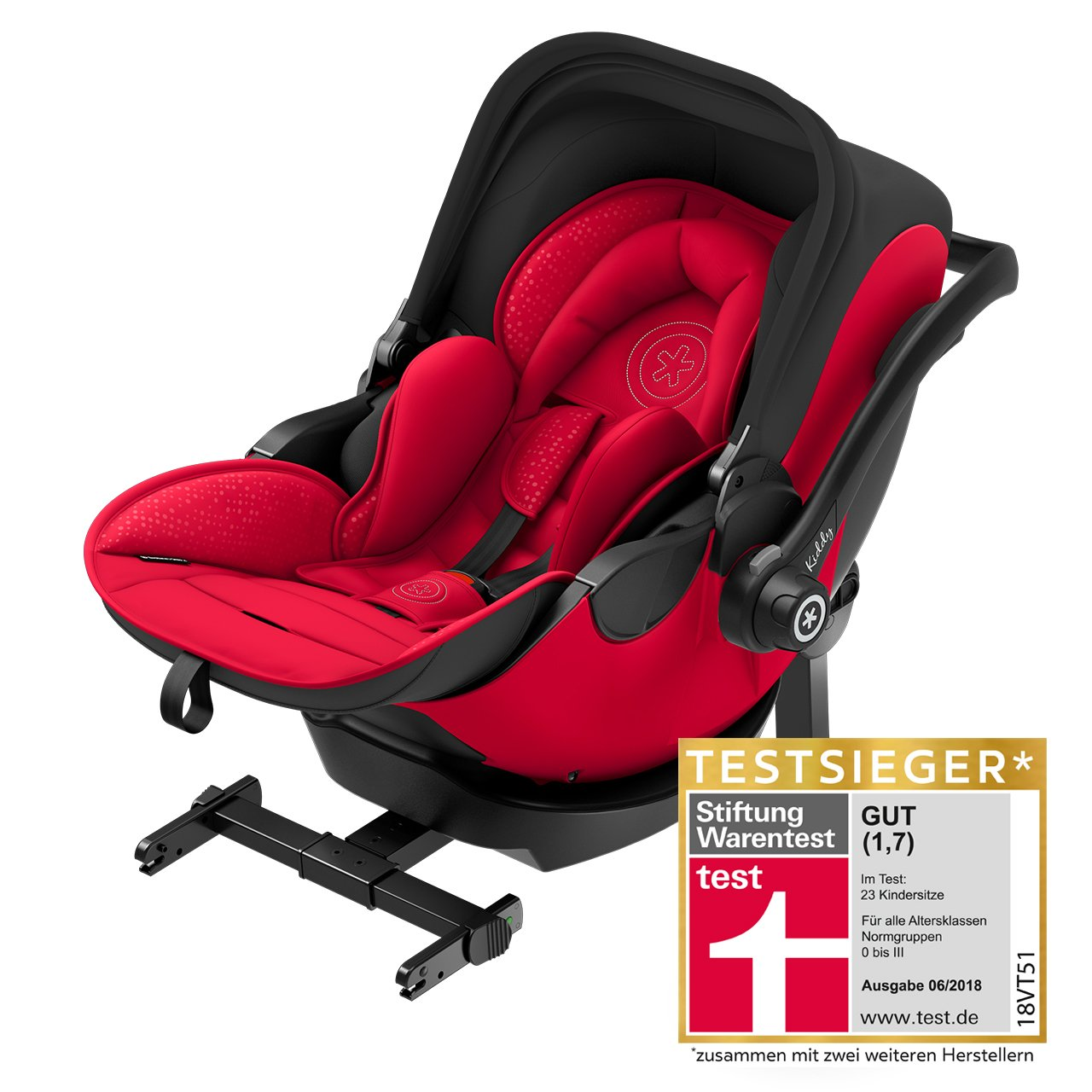 Red Chicco Car Seat >> kiddy Infant Car Seat evo-luna i-Size 2 including kiddy Isofix Base 2018 Chili Red - Buy at ...