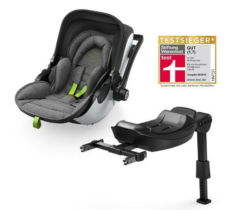 Kiddy evo-luna i-Size 2 including kiddy Isofix Base 2 - * The unique kiddy evo-luna i-Size 2 has proved to be successful and was awarded test winner in the current assessment of Stiftung Warentest 2018. This outstanding result was achieved by its unique selling points – the lying function in the car and its usability as travel system.