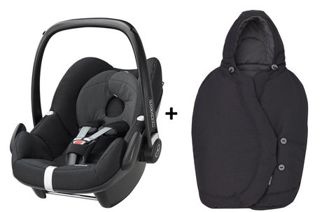 Maxi-Cosi infant carrier Pebble incl. Foot muff Black Raven 2017 - large image