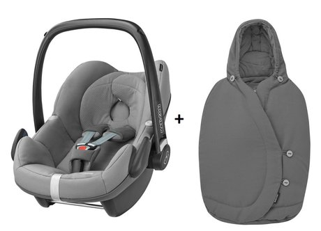 Maxi-Cosi infant carrier Pebble incl. Foot muff Congrete Grey 2017 - large image