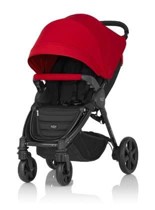 Britax B-Agile 4 Plus incl. Canopy Pack Flame Red 2017 - large image