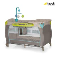 Hauck Baby Centre - * The multi-functional baby centre by Hauck is suitable for your little one from birth on. Travel cot with exclusive features: 2 levels, changing mat, shelf for utensils, mobile, mattress and carrying bag.