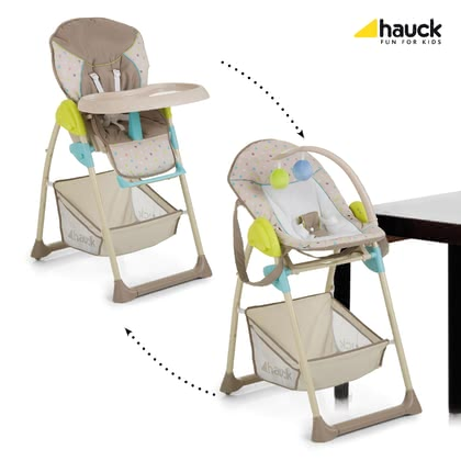 Hauck high chair Sit'n Relax - In the Hauck Sit'n relax your baby already from the first day with you at eye level can participate in family events.