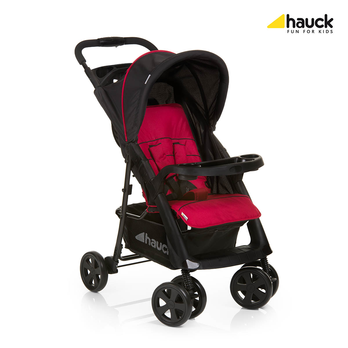 hauck pushchair neo ii 2016 black red buy at kidsroom. Black Bedroom Furniture Sets. Home Design Ideas