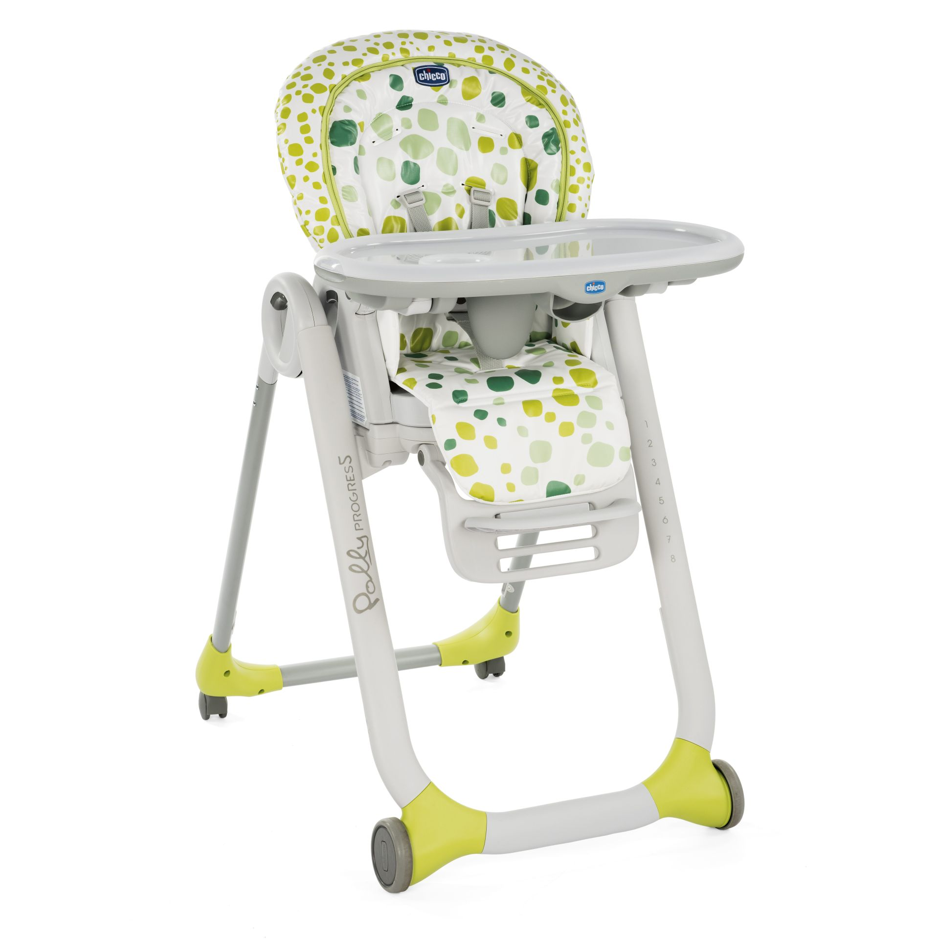 Chicco high chair polly progres5 2018 kiwi buy at for Housse chaise haute chicco