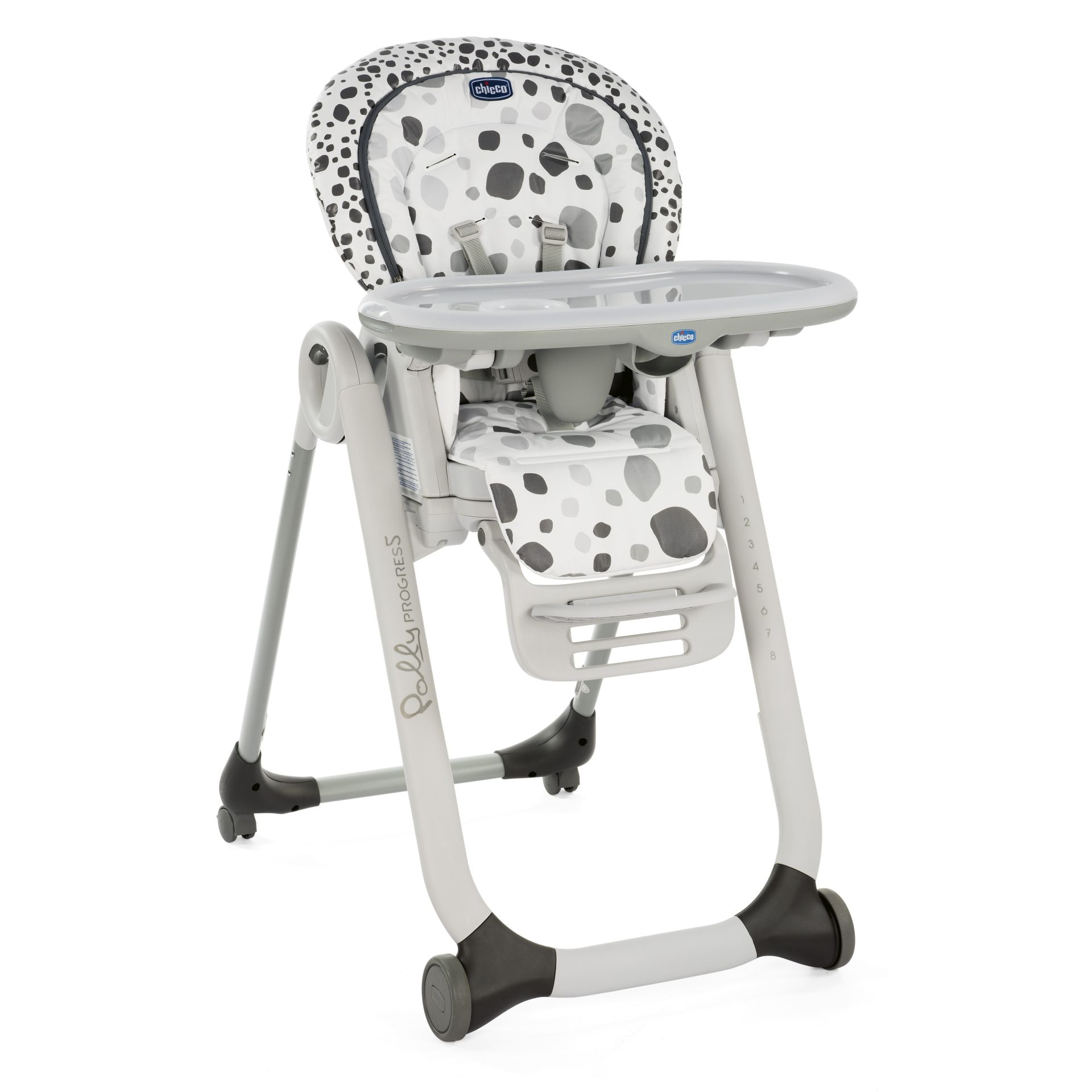 Chicco high chair polly progres5 2018 anthracite buy at for Chaise haute chicco