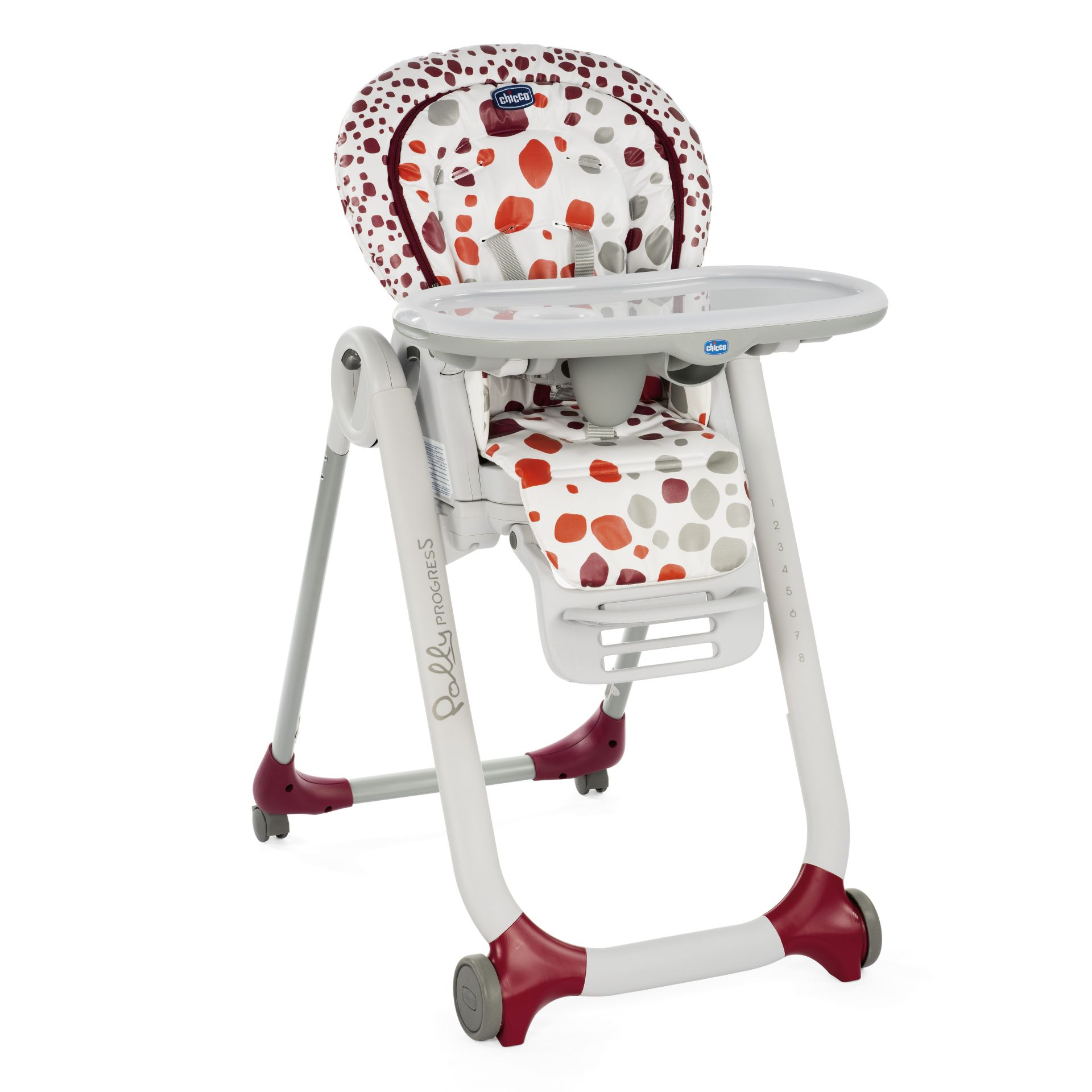 Chicco high chair polly progres5 2018 cherry buy at for Chaise haute chicco