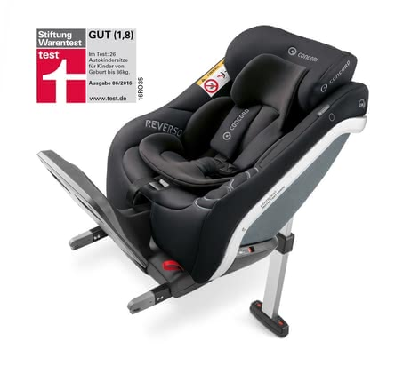 Concord Reboard car seat REVERSO.PLUS - * By using this seat you are carrying your child faced backwards and according to the new i-Size standards.