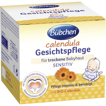 Bübchen Calendula Face Cream - * Just the right product, the Bübchen Calendula face cream for your newborn baby. The cream protects and cares for your baby's delicate facial skin.
