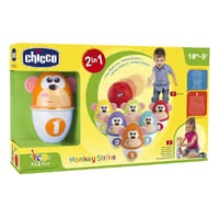 Chicco Bowling - * Chicco bowling – Consists of six colourful pins with funny monkey faces.</ul<