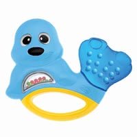 Chicco Teether Seal - * Chicco teething ring – This ring spoils your child with its cooling effect when he/she is having teething pain.