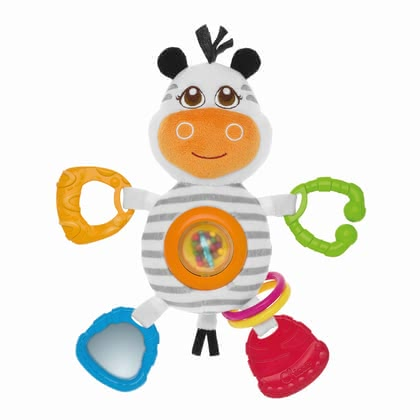 Chicco Baby Senses Rattle Mrs Zebra - * Chicco rattle Mr. Zebra – This toy offers numerous possibilies to play.