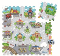 "Chicco Jigsaw Puzzle Mats City & Castle -  * Chicco's jigsaw puzzle play mats ""City & Castle"" do not only bring exciting jigsaw puzzle fun into your child's nursery, but also provide a soft and sturdy playing mat for your little one to play and crawl on."