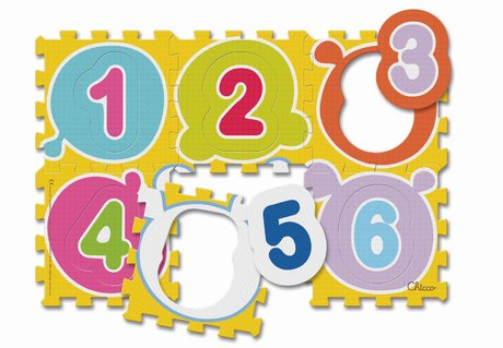 Chicco Soft Play Mats Numbers & Animals - * – Chicco puzzle mats numbers & animal - The colourful puzzle mats numbers & animals invite your child to puzzle and study.