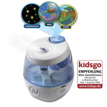 Vicks® Sweet Dreams 2 in 1 Ultrasonic Cool Mist Humidifier - * Wick Sweet Dreams 2 in 1 ultrasound humidifier – This cold air humidifier unites scents and light in one and provides a comfortable sleep.