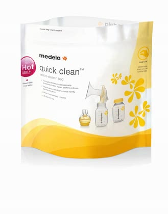 Medela Quick Clean Microwave Bags - * Medela Quick Clean microwave bag – Sterilising will be very easy with this microwave bag. Safe, quick and useful!