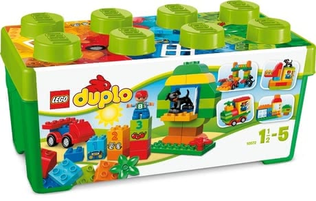 LEGO Duplo All-in-One-Box-of-Fun - The LEGO Duplo All-In-One Box of Fun set has a whole load of Duplo bricks for fun building and rebuilding for creative play.